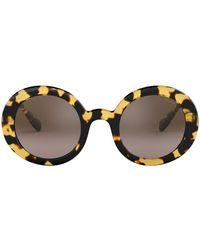 c58b0e42ad9 Miu Miu 0mu 51ss Sunglasses in Natural - Lyst
