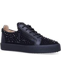 Giuseppe Zanotti - Stud Embellished Low Top Sneakers - Lyst