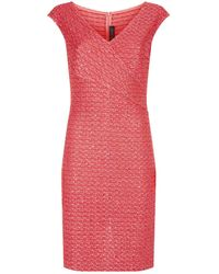 St. John - Knitted Midi Dress - Lyst