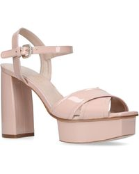 Stuart Weitzman - Patent Leather Exposed Platform Sandals - Lyst