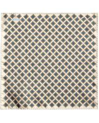 Eton of Sweden | Floral Tile Print Pocket Square | Lyst