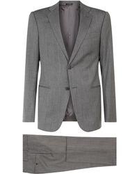 Emporio Armani - Herringbone Suit - Lyst