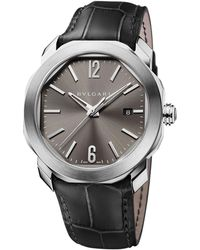 BVLGARI - Stainless Steel Octo Roma Watch 41mm - Lyst