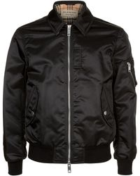 Burberry - Collared Bomber Jacket - Lyst