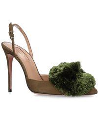 Aquazzura - Powder Puff Slingback Court Shoes 105 - Lyst