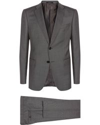 Armani | Micro Dot Two-piece Suit | Lyst