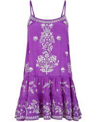 Juliet Dunn - Embroidered Camisole Dress - Lyst