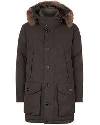 Moncler | River Fur Trim Jacket | Lyst
