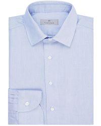 Canali - Micro Grid Shirt - Lyst
