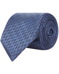 Corneliani - Tonal Herringbone Tie - Lyst