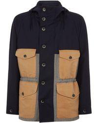 Barena - Contrast-panelled Virgin Wool Hooded Jacket - Lyst