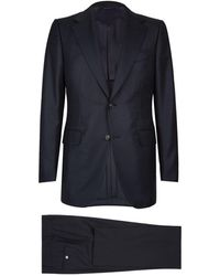 Dunhill - Textured Birdseye Two-piece Suit - Lyst