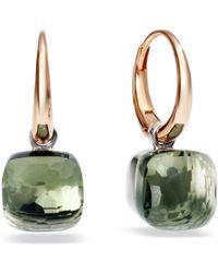 Pomellato - Nudo Prasiolite Rose Gold Earrings - Lyst