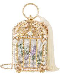 Judith Leiber - Crystal Birdcage Minaudire Clutch - Lyst