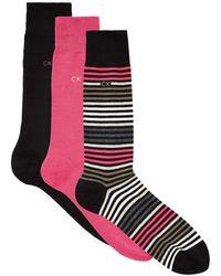 CALVIN KLEIN 205W39NYC - Barcode Stripe Socks - Lyst