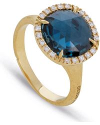 Marco Bicego - Yellow Gold Jaipur Blue Topaz Ring - Lyst