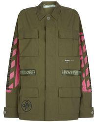 a3804eb150ba Lyst - Off-White c o Virgil Abloh Diagonal Stripe Field Jacket in Green