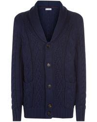 Brunello Cucinelli - Chunky Knit Cotton Cardigan - Lyst