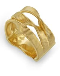 Marco Bicego - Yellow Gold Marrakech 3 Strand Twisted Ring - Lyst