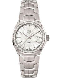 Tag Heuer - Link Ladies Diamond Mother Of Pearl Watch - Lyst
