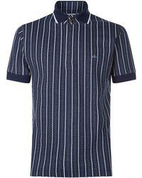 Vivienne Westwood - Stripe Knit Polo Shirt - Lyst