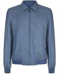 Pal Zileri - Collared Blouson Sleeve Jacket - Lyst