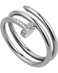 Cartier - White Gold And Diamond Double Juste Un Clou Ring - Lyst