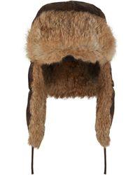 9509e33b1100e Zilli Leather Aviator Hat in Black for Men - Lyst