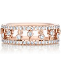 De Beers - Rose Gold And Diamond Dewdrop Ring - Lyst