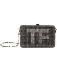 Tom Ford - Crystal Logo Minaudire Clutch - Lyst