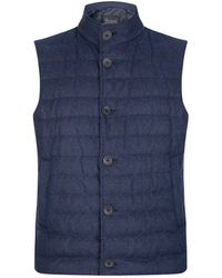 Herno - Quilted Cashmere-silk Gilet - Lyst