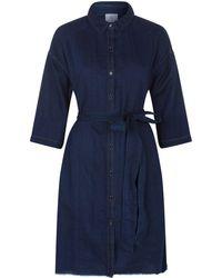 AG Jeans - Claudia Denim Shirt Dress - Lyst
