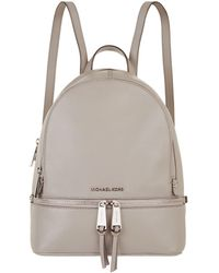 MICHAEL Michael Kors - Medium Leather Rhea Zipped Backpack - Lyst