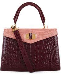 Ethan K - Croc Alla Single Top Handle Bag - Lyst
