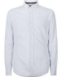 BOSS Orange - Cotton Stripe Printed Shirt - Lyst