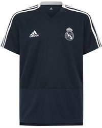 6033ff33fd3 adidas Real Madrid Cf 2017-2018 Swt Training T-shirt in Black for ...