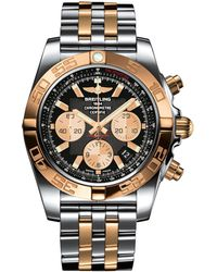 Breitling - Stainless Steel And Gold Chronomat Automatic Watch 44mm - Lyst