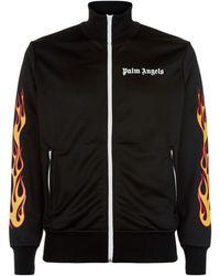 Palm Angels - Flame Logo Zip-up Sweatshirt - Lyst