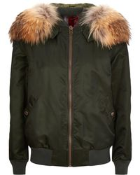 Mr & Mrs Italy - Fur Lined Bomber Jacket - Lyst