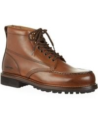 Tom Ford - Cromwell Burnished-leather Hiking Boots - Lyst