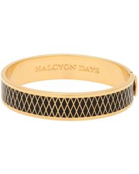 Halcyon Days - Gold Plated Parterre Bangle - Lyst