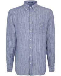 GANT - Pinstripe Shirt - Lyst
