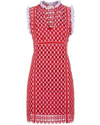 Sandro - Geometric Lace Dress - Lyst