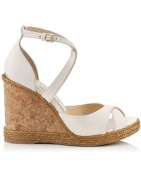 Jimmy Choo - Alanah 105 Leather Wedges - Lyst