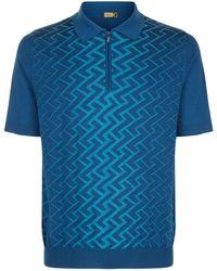 Zilli - Tetris Weave Polo Shirt - Lyst