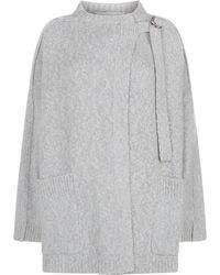 Chloé - Brushed Wool Oversized Cardigan - Lyst