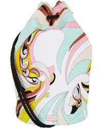 Emilio Pucci - Printed Towel Drawstring Bag - Lyst