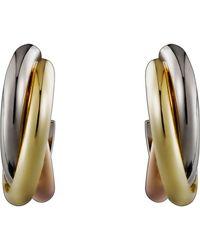Cartier | Trinity De Hoop Earrings | Lyst