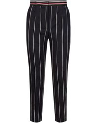 Sandro Striped Wide-leg Trousers