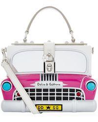 Dolce & Gabbana - Car Padlock Top Handle Bag - Lyst